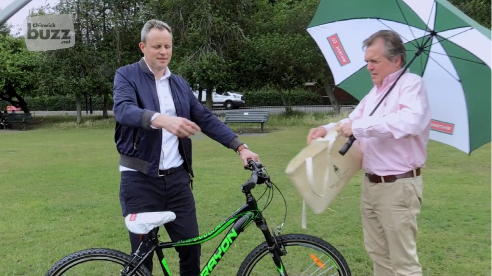 Chris Chalmers and James Matthews from Whitman & Co make the Win A Bicycle Draw