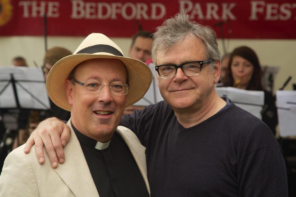 Kevin McNally and Fr Kevin Morris