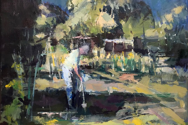 The Happy Gardener by Francis Bowyer, from the Bedford Park Summer Exhibition, June 12 to 18.