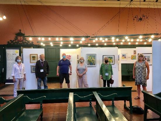Summer Exhibition committee indoors