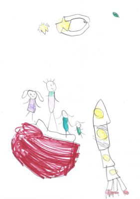 My family in the future - Stella Lebens, age 5 - winner