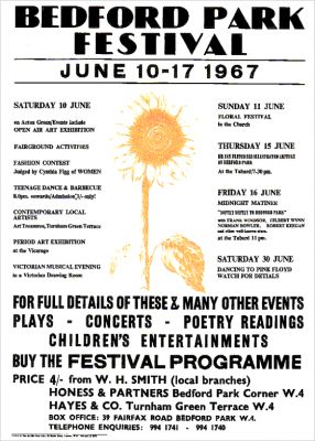 The 1967 poster, which is displayed at Gunnersbury Park & Museum